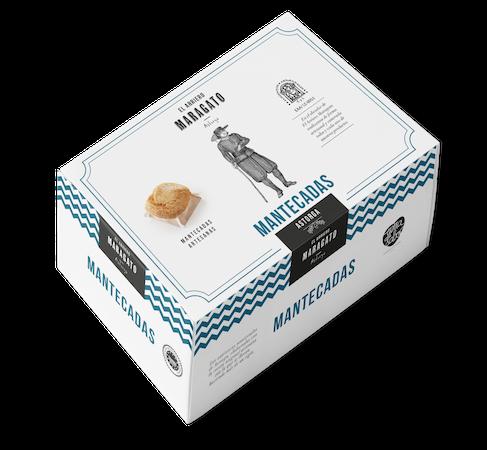 Caja mantecada cartón